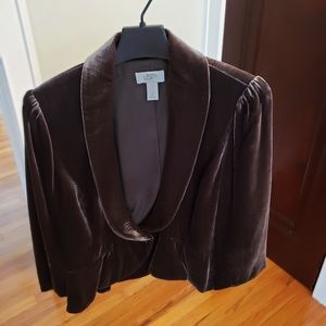 Loft brown velvet jacket